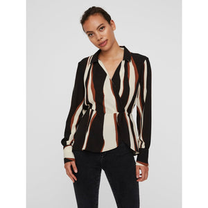 VERO MODA : Printed Top Brown