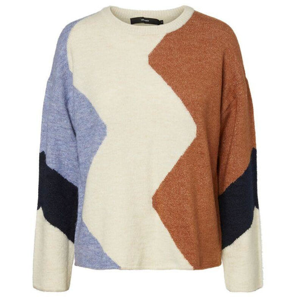 VERO MODA : Printed knitted pullover