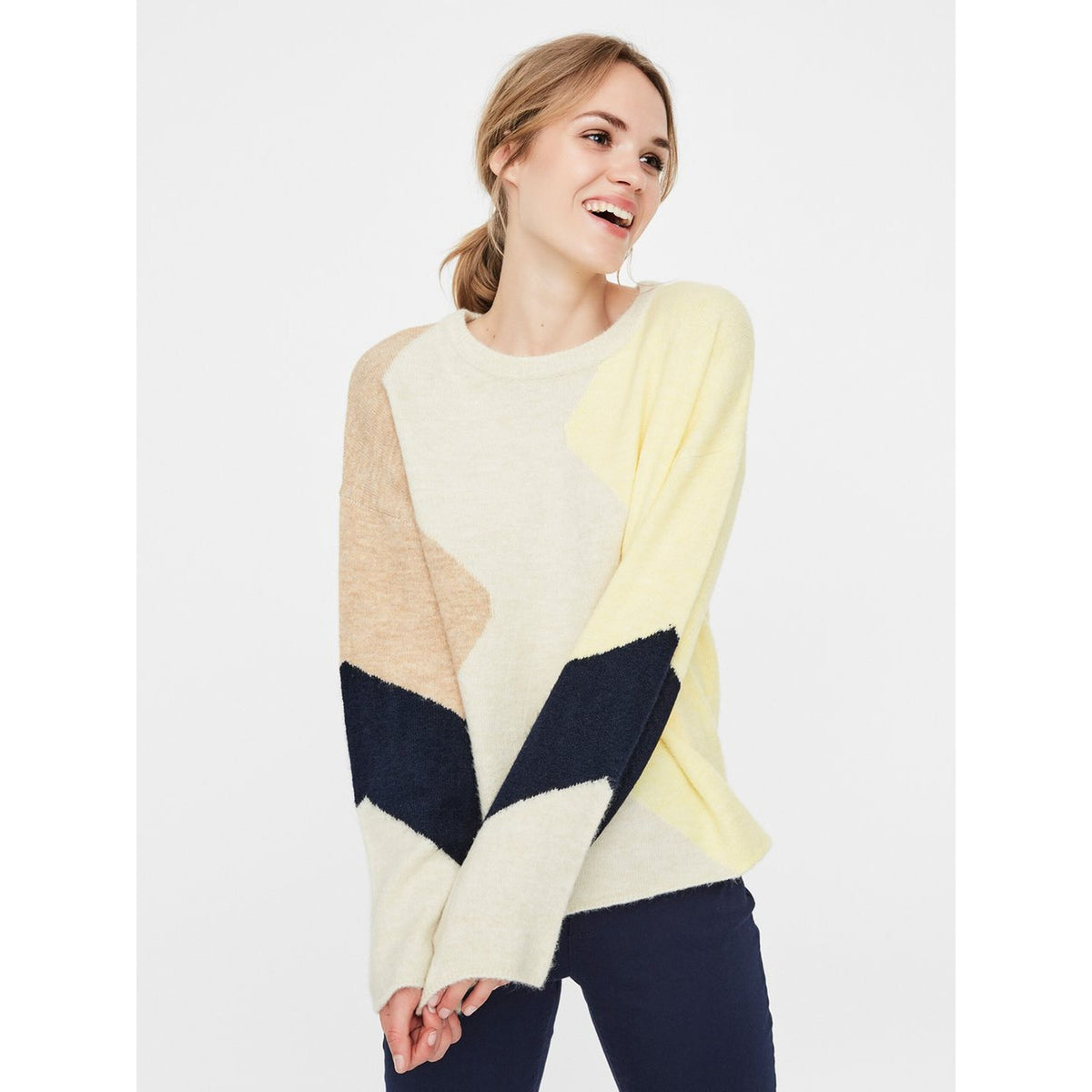Vero Moda Printed Knitted Pullover The Cope