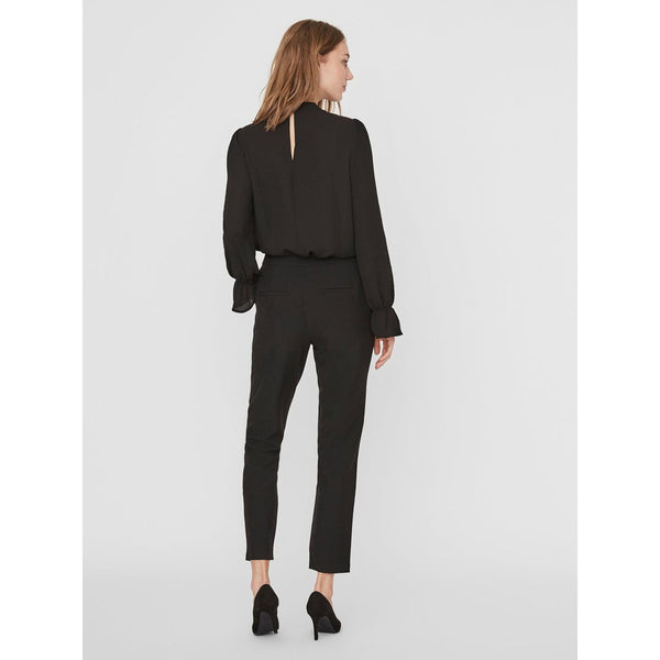 VERO MODA : High Neck Top Black