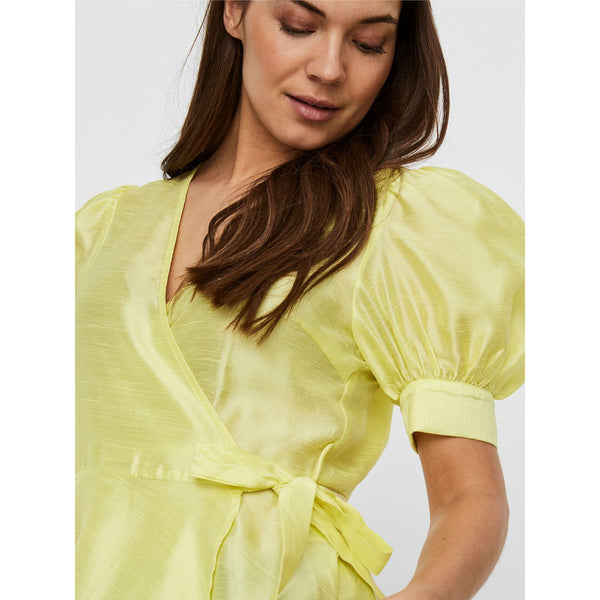 VERO MODA : Wrap short sleeve top