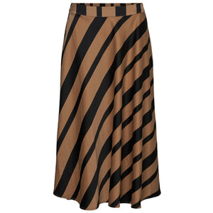 VERO MODA : High Waist Calf Skirt