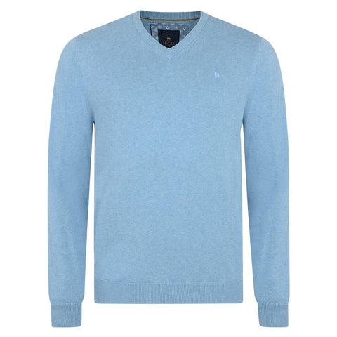 MAGEE : Carn Cotton V-Neck Jumper