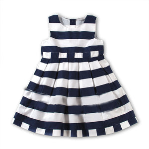 ALL ABOUT EMMA: Girls Navy and White Dress