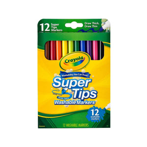 CRAYOLA : 12 Pack supertips washable markers