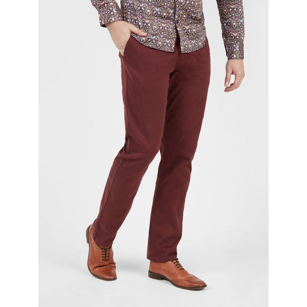 MISH MASH : Bromley casual, 4 Pocket chino, Burgundy