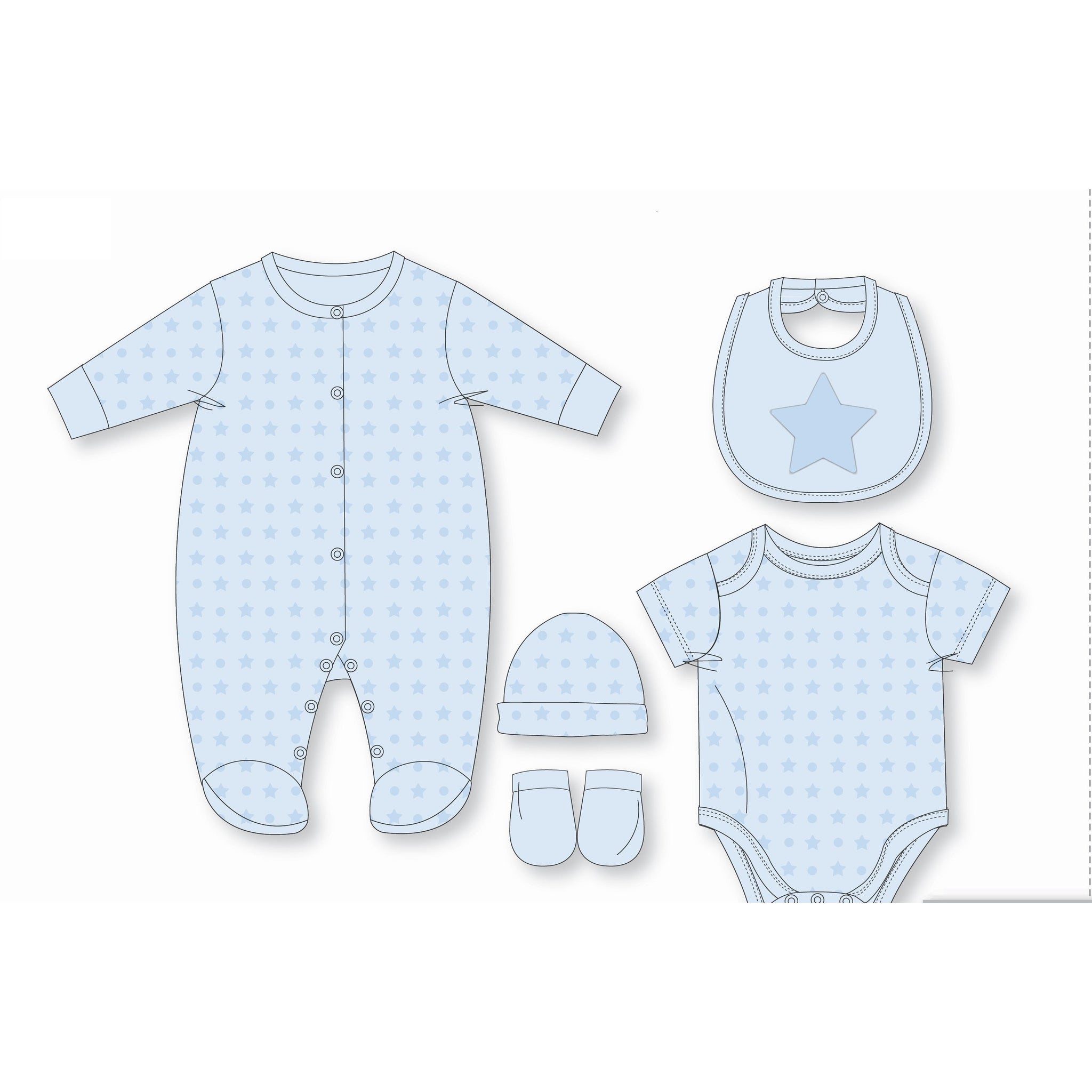 ROCK A BYE BABY : 5 Piece for Boy