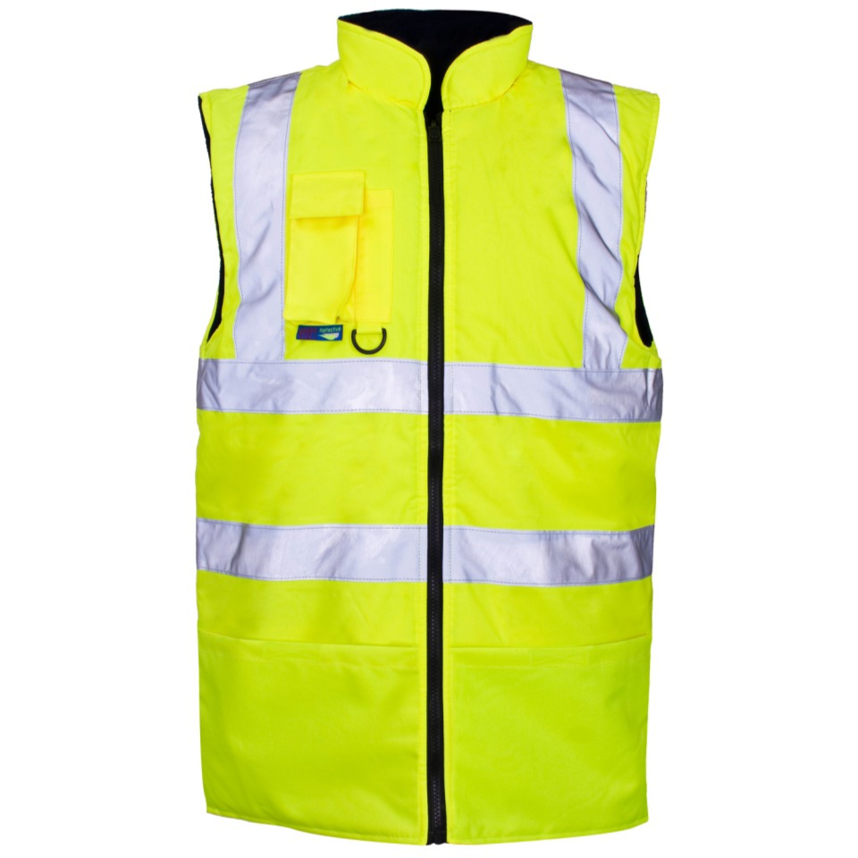 Reversible Hi-vis Fleece Lined Bodywarmer