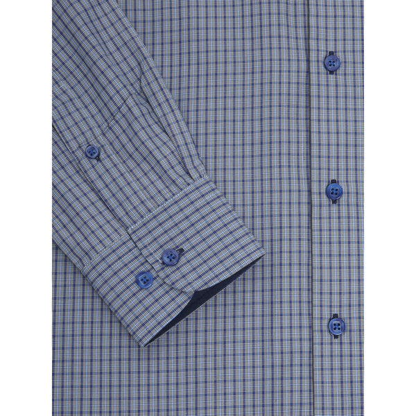 Daniel Grahame : Geneva Long Sleeve Shirt Blue Check
