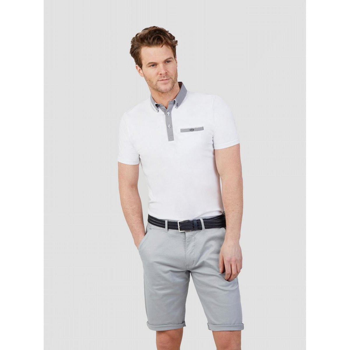 MISH MASH : Shore Break Casual Short Sleeve Polo White