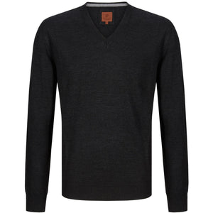 Douglas : Charcoal V-neck Jumper