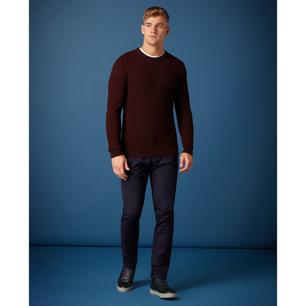 REMUS UOMO : Dark Red crew-neck Jumper