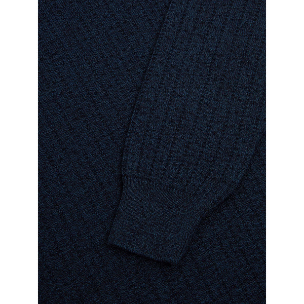 REMUS UOMO : Dark Blue crew-neck Jumper