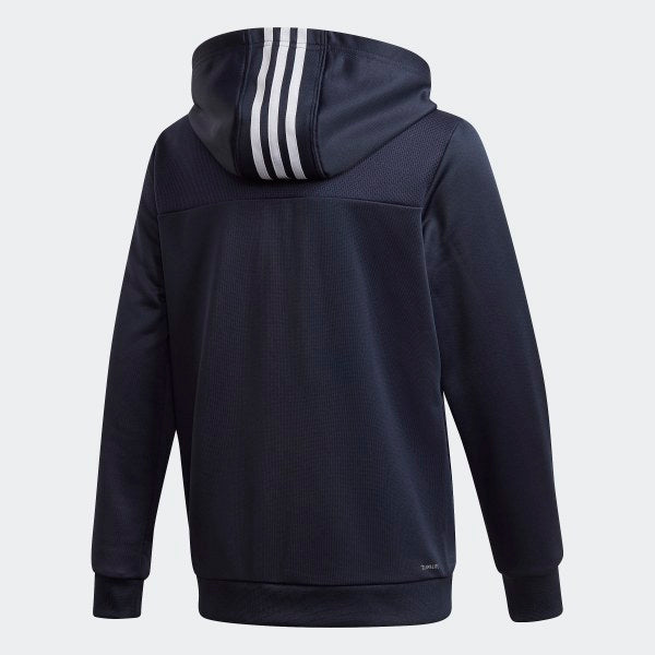 ADIDAS : YB 3 STRIPE FULL ZIP HOOD