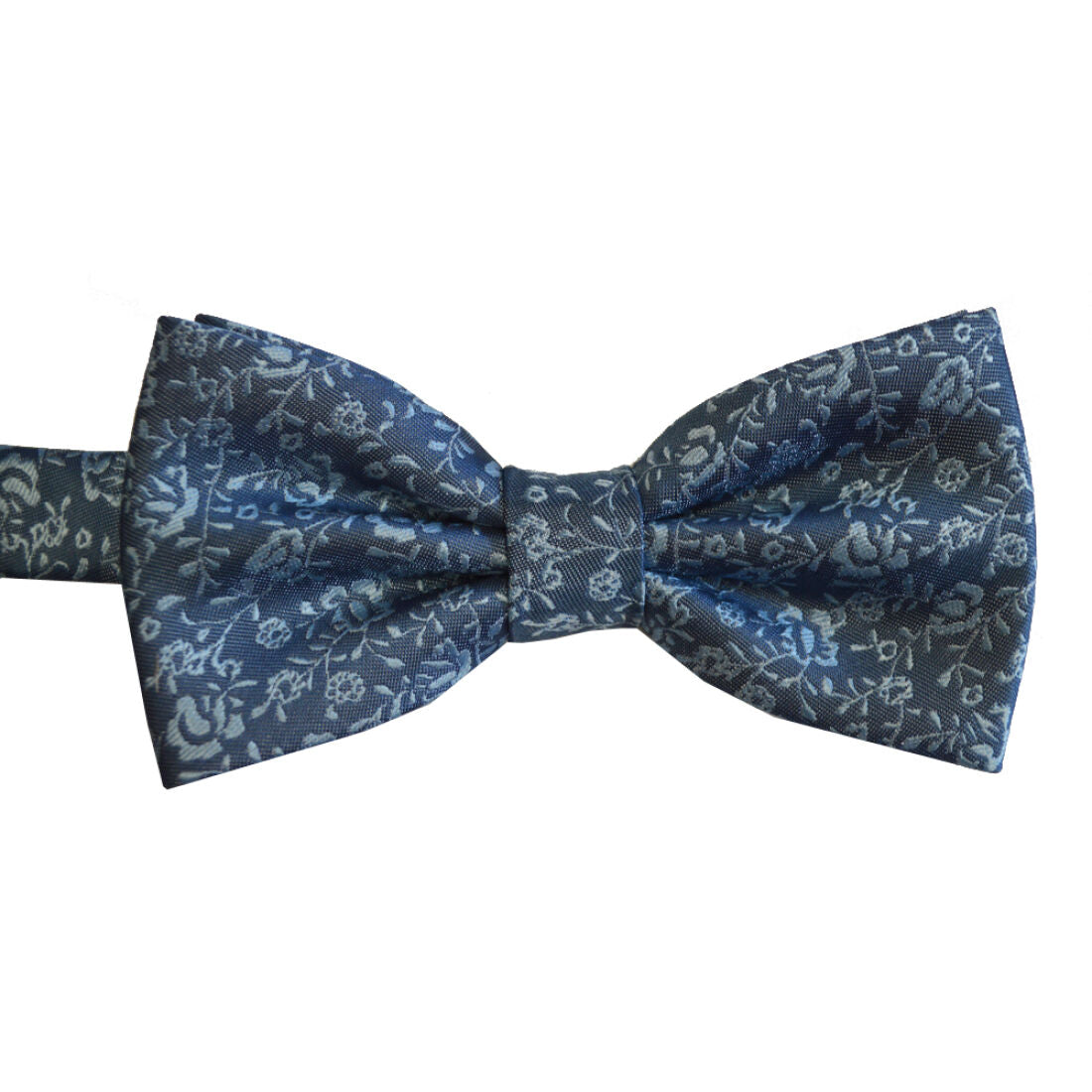 L.A SMITH : Floral Blue Bow Tie Set
