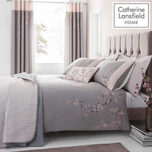 CATHERINE LANSFIELD : Embroidered blossom duvet set