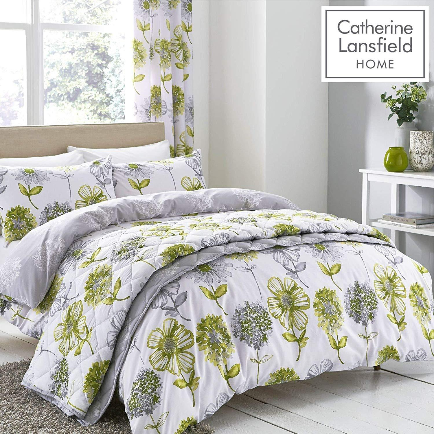 CATHERINE LANSFIELD : Banbury Floral Green Duvet Set