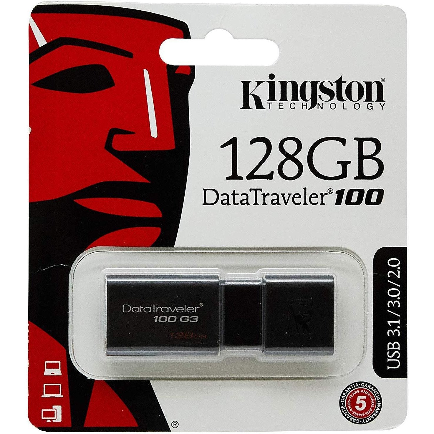 Kingston DataTraveler 100 128GB USB Memory Stick