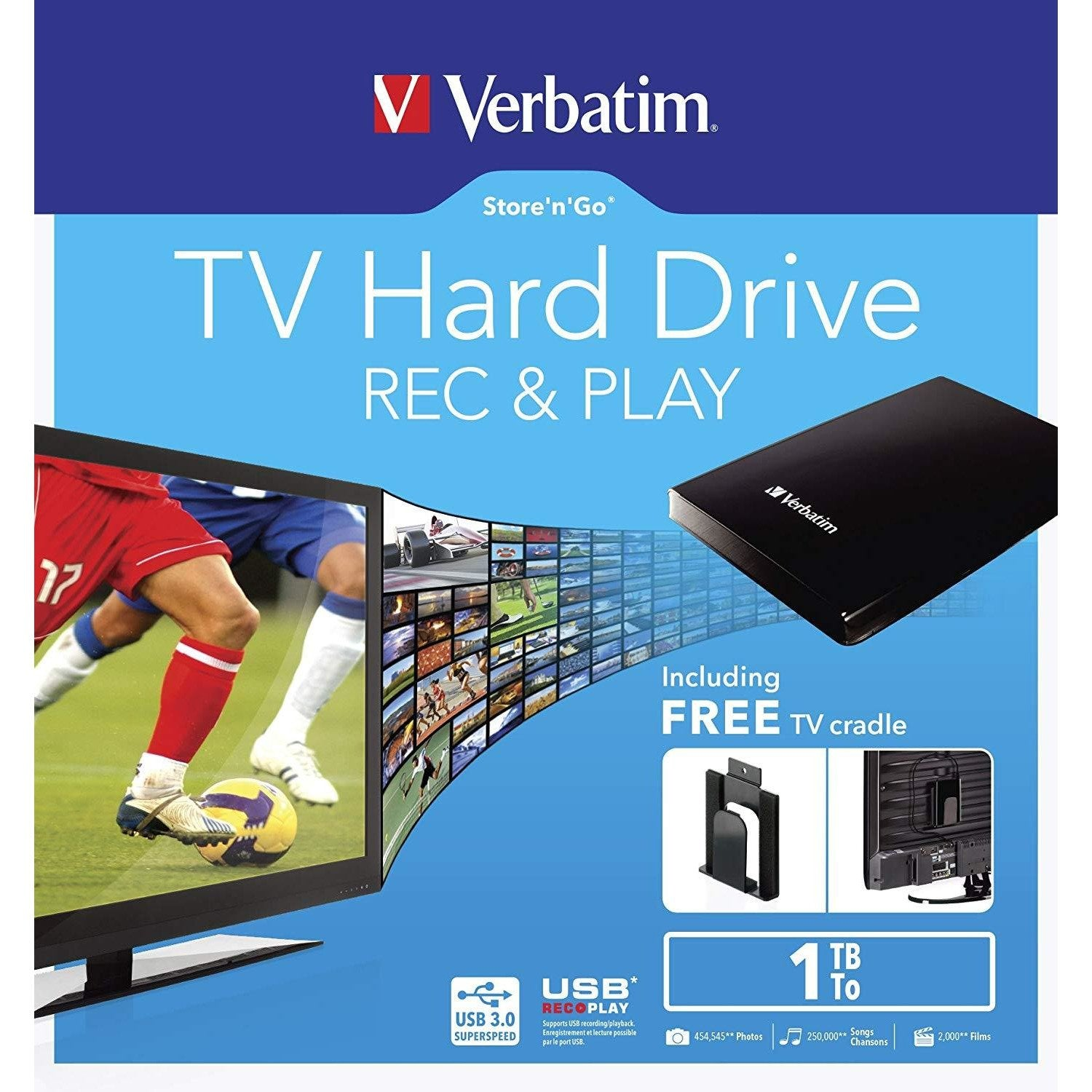 Verbatim 1TB TV Hard Drive