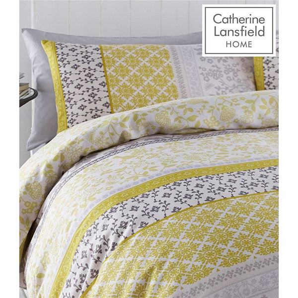 CATHERINE LANSFIELD : Oriental Bird Yellow Duvet Set