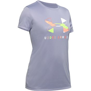 UNDER ARMOUR :  Girls' UA Tech Big Logo Short Sleeve