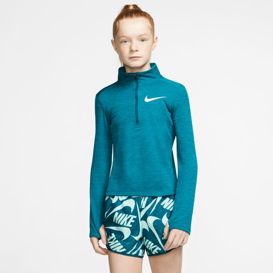 NIKE : Girls Long Sleeve Half Zip