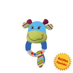 BABY BABY : Cow Bead Rattle