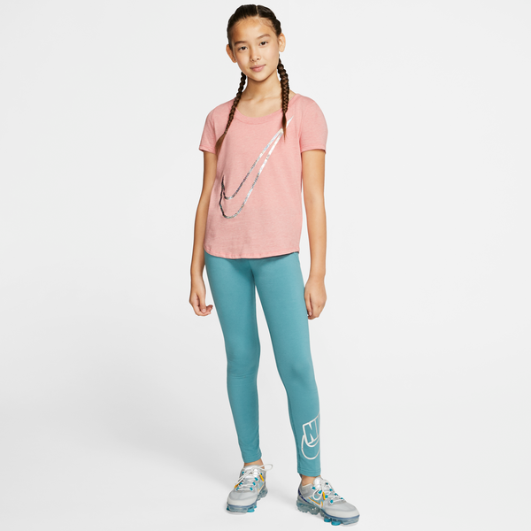 NIKE : Girls Shine Swoosh T-shirt