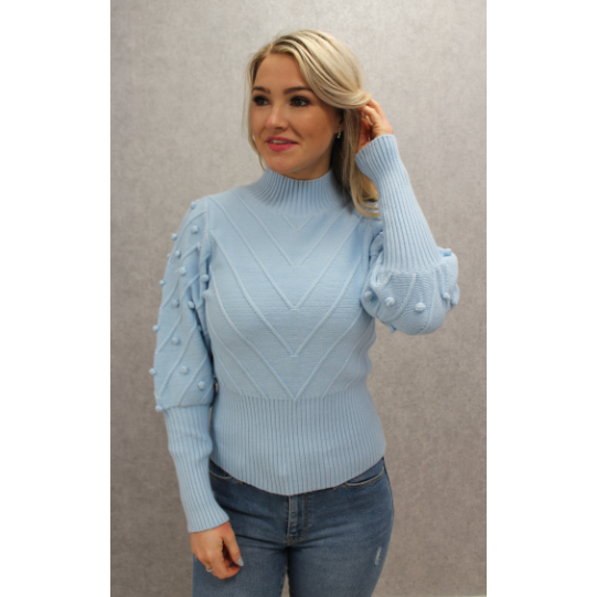 COPE CLOTHING : Flamant Rose Jumper Powder Blue