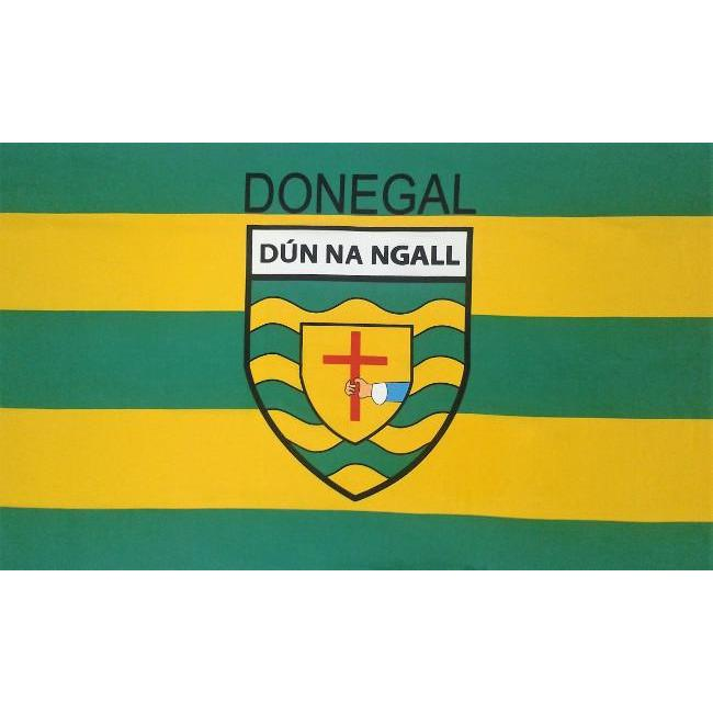 DONEGAL GAA : 5X3 Crested Flag