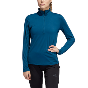 ADIDAS : Women's AZ  Half Zip Blue