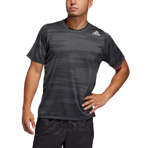 ADIDAS :  Freelift Winterized Jacquard T-Shirt Grey/Black