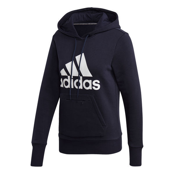 ADIDAS: Womens Badge of Sport Overhead Fleece Hoodie
