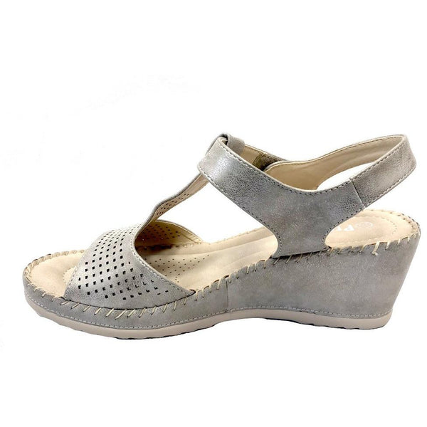 PROPET : Wedge Sandal Grey Metallic