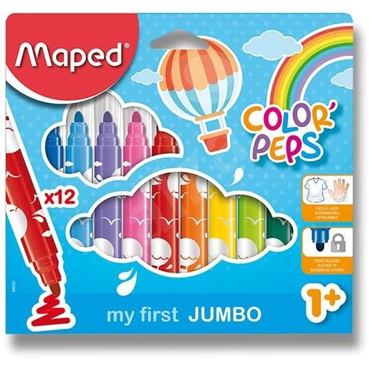MAPED : 12 pack jumbo colour peps