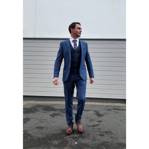 DANIEL GRAHAME : Blue damon 3 piece suit