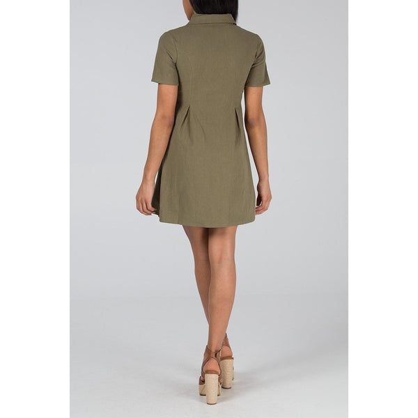 COPE CLOTHING : Double Breasted Safari Dress Pink