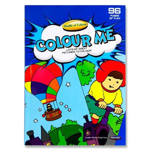 WORLD OF COLOUR :  A4 96 Page colouring book