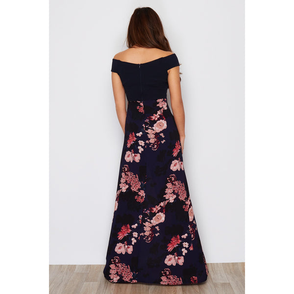 GIRL IN MIND : Paige off the shoulder split leg maxi dress