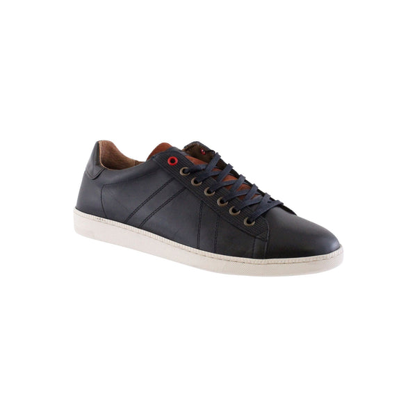 MORGAN  : Sporty Tie Navy Leather