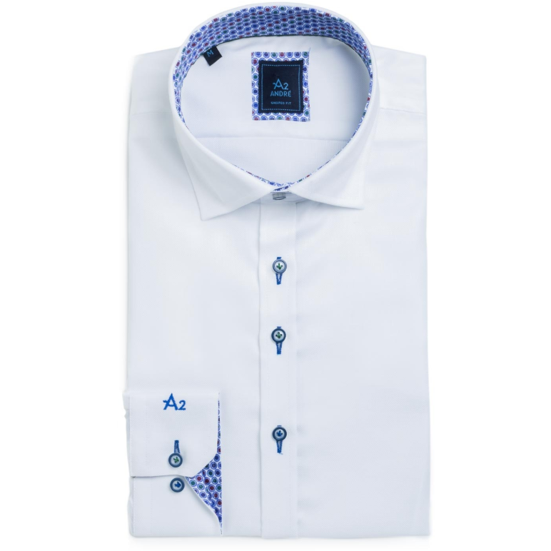 ANDRÉ : A2 Dallas Long Sleeve Shirt  White