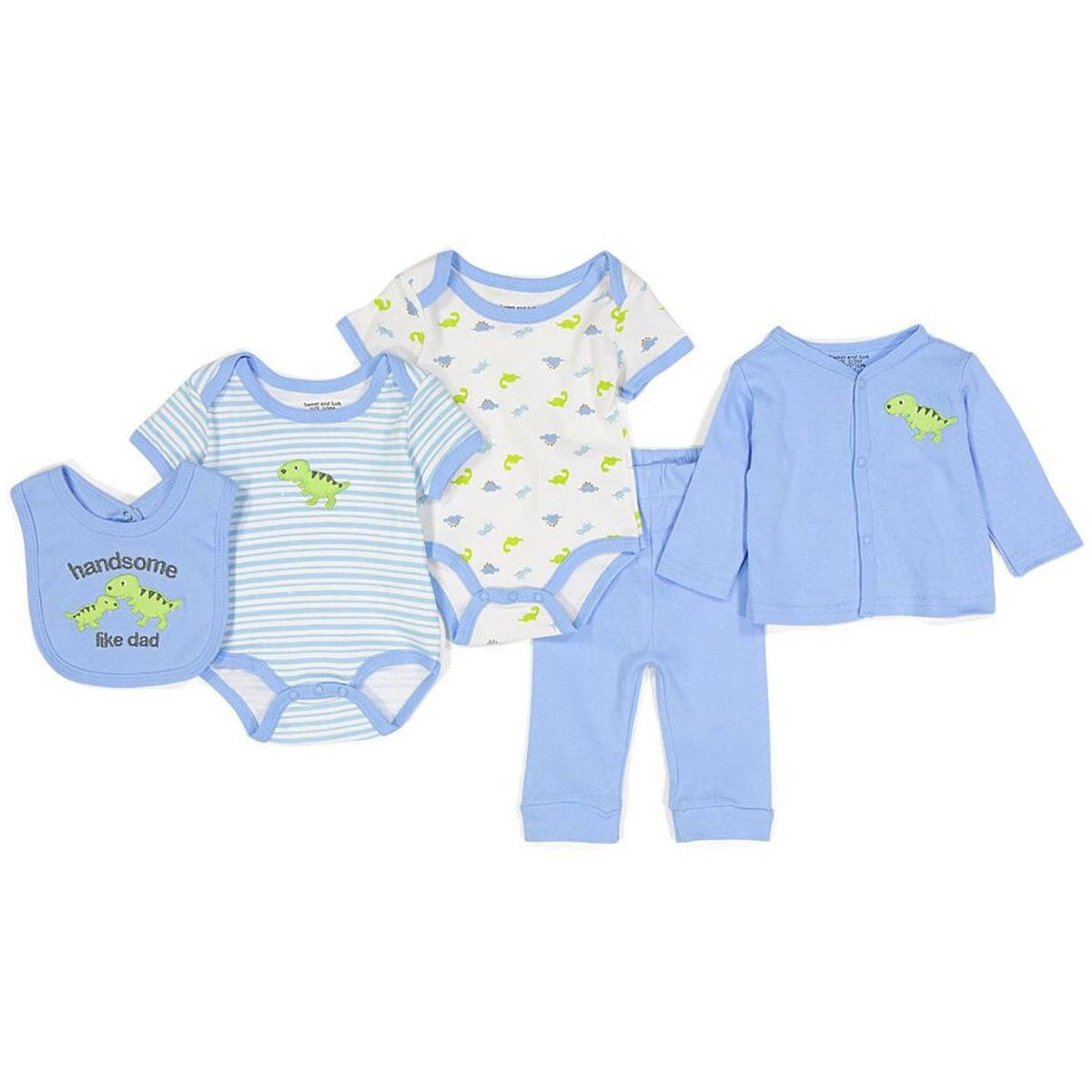 Sweet Amp Soft 5 Piece Baby Boy Set The Cope