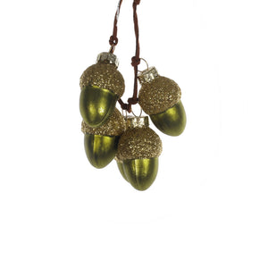 Acorn Cluster Glass Hanging Decoration