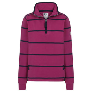 LAZY JACK'S : Stripped Quarter Zip