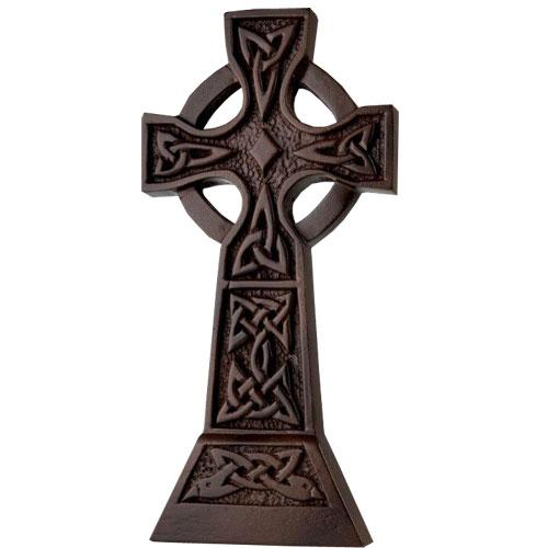 ISLAND TURF CRAFTS :  Large Celtic Cross wall hanging