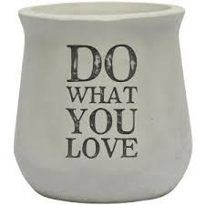 Do What You Love - Concrete Planter