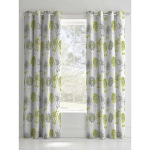 CATHERINE LANSFIELD : Banbury Floral Curtains Green 66 X 72