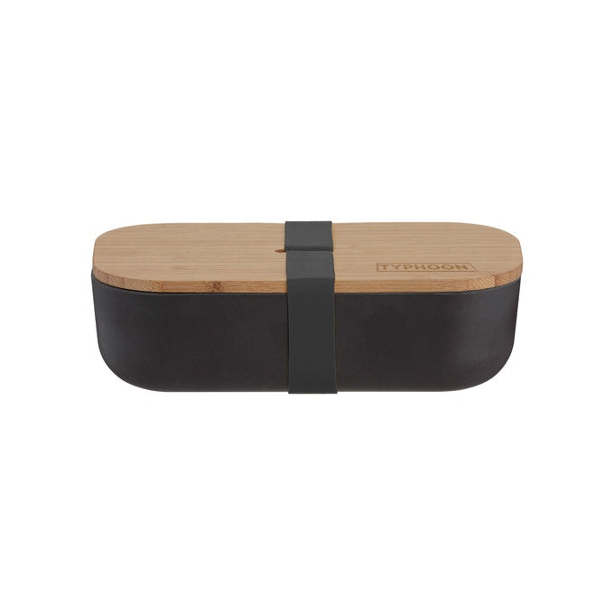 Typhoon : Black bamboo lunch box