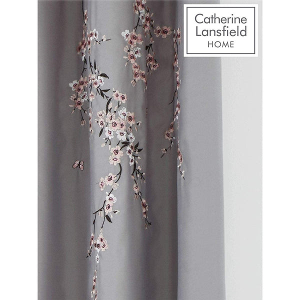 CATHERINE LANSFIELD : Embroidered Blossom curtians 66x72