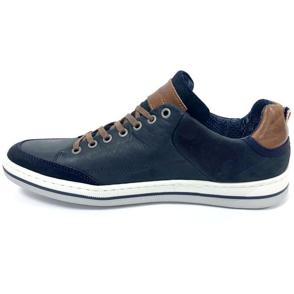MORGAN & CO : Navy Leather Laced Shoe